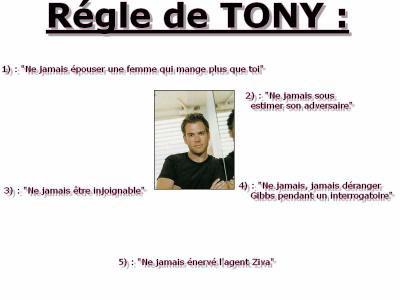 les régles de Tony