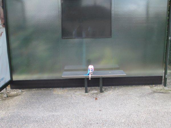 L'arrêt de bus et l'autre folle ^^