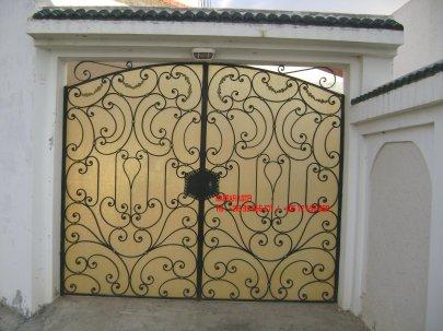Portail fer forg 39 harmonie de fer forg tunisien for Portail fer forge tunisie