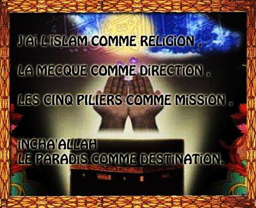 J'ai l'Islam comme religion et j'en suis fier
