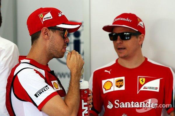 Räikkönen déjà mis sous pression par Vettel