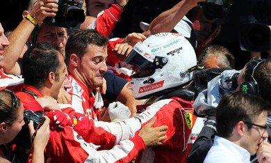 Vettel remercie la pluie