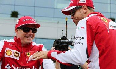 Räikkönen aussi rapide que Vettel mais…