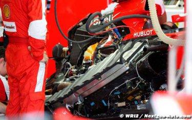 La préparation de Ferrari pour Austin côté moteur