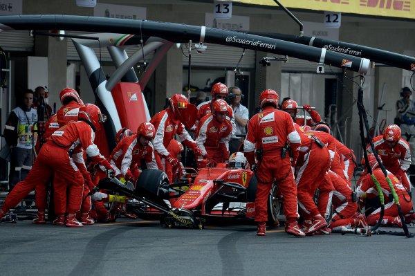 GP du Mexique, une course difficile analysée par Arrivabene, Raikkonen, Vettel