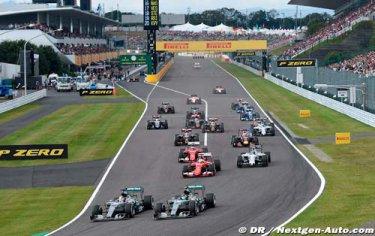 La Formule 1 en 2016 : le calendrier des Grands Prix