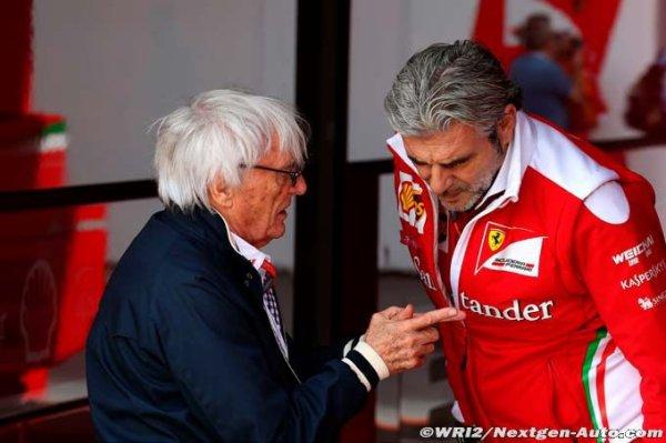 F1 - Ferrari : Ecclestone n'aimerait pas être à la place d'Arrivabene