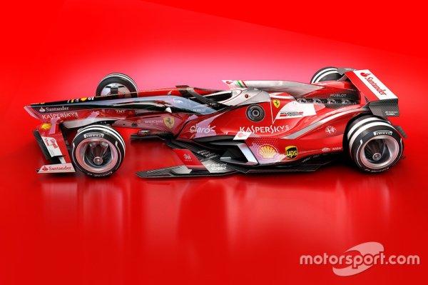 Plongée futuriste dans la Formule 1 de 2030 (Concept Ferrari 2030)