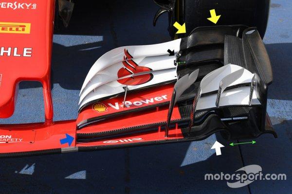 Technique - Les évolutions majeures de Ferrari à Bahreïn (1er partie)