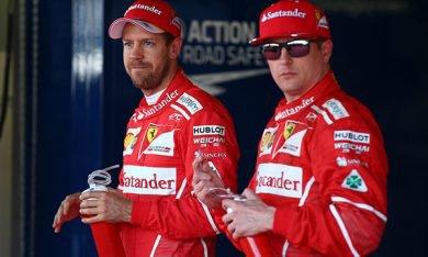 """Vettel : """"Kimi a manqué de réussite"""""""