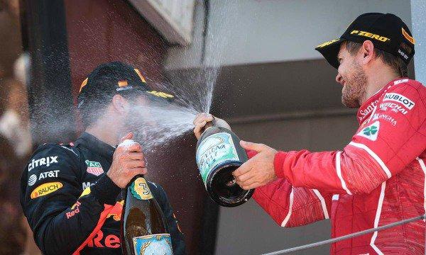 """Ricciardo : """"Un Vettel rapide est un Vettel heureux !"""""""