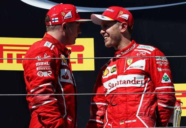 Ferrari conserverait Vettel et Räikkönen pour 2018