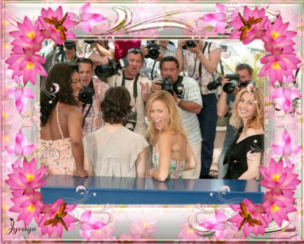 SUITE A SA PARTICIPATION AU FILM LARA FABIAN FAIT SON APPARITION SUR LE TAPIS ROUGE DU FESTIVAL DE CANNES EN 2004