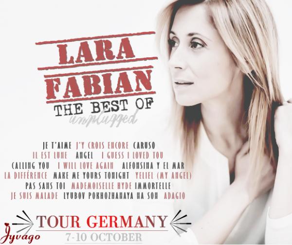 LARA  FABIAN  TOUR   GERMANY  OCTOBRE  2014