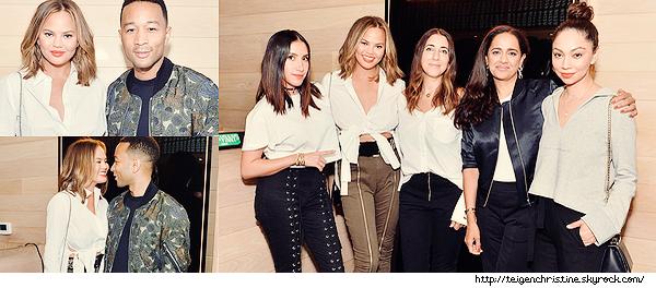 •••  EVENT Chrissy et John été vu dînant au Jon & Vinny's pour Intermix ALC line à Los Angeles,  11 Août 2017             Je ne suis pas fan de sa tenue cette fois. J'adore sa mise en beauté qui est superbe comme son chemisier, son pantalon est moche.