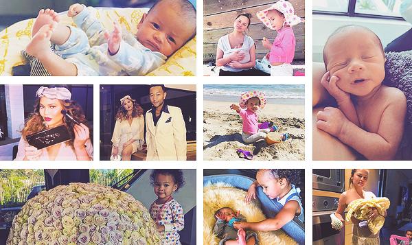 •••  RÉSEAUX SOCIAUX  Voici des photos de sa famille que Chrissy a posté sur son compte Instagram, partie III            Je n'ai posté que mes favorites mais elles sont réparties en trois articles différents.J'ai remonté de nos jours à la naissance de Miles.
