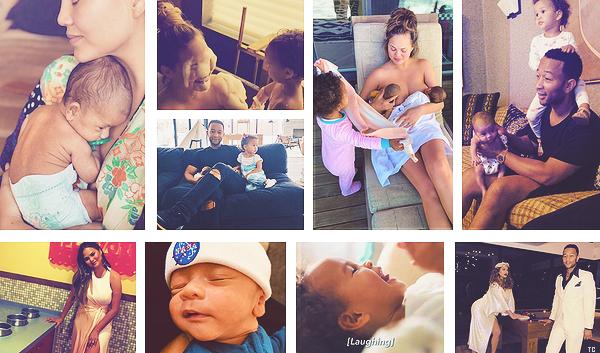 •••  RÉSEAUX SOCIAUX  Voici des photos de sa famille que Chrissy a posté sur son compte Instagram, partie II            Je n'ai posté que mes favorites mais elles sont réparties en trois articles différents.J'ai remonté de nos jours à la naissance de Miles.
