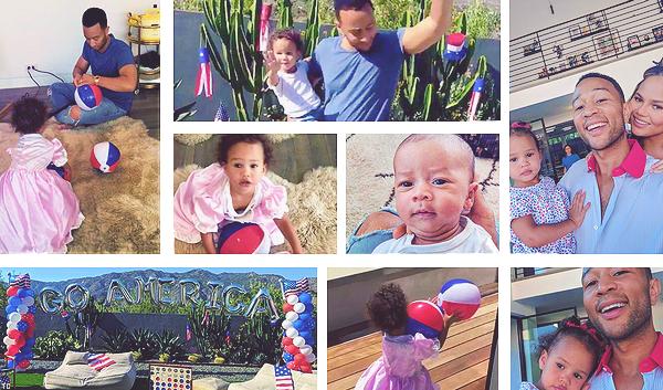 •••  CANDIDS Chrissy, John et leurs enfants se sont préparés pour la fête nationale américaine, le 04 juillet 2018           A travers un grand nombre de snaps Chrissy nous montre les préparatifs de la fête. La déco est superbe. Coup de coeur pour la photo 1.