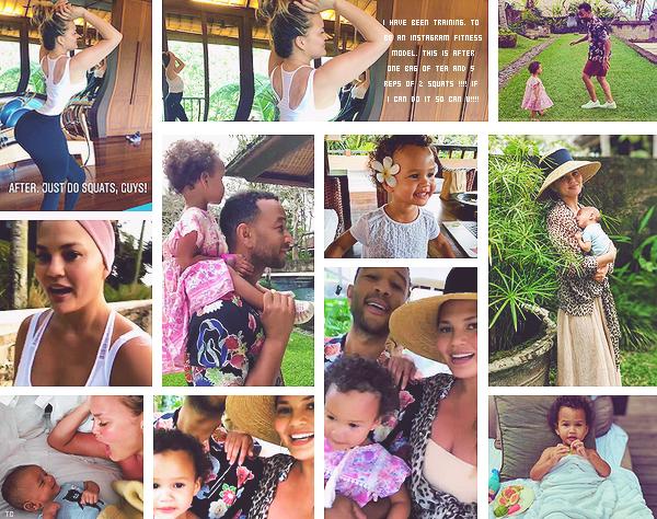 •••  CANDIDS Et une nouvelle journée chargée pour la miss Chrissy qui n'arrête jamais, le 29 juillet 2018           Malgré un tremblement de terre de 6.4 qui a touché Bali, C. n'en perd pas son humour sur Twitter. Enfin, ses photos Insta sont superbes !