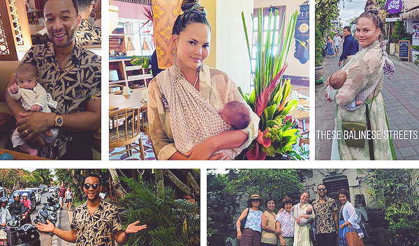 •••  CANDIDS La famille toujours à Bali s'est baladé et a fait un bon nombre d'activités, 01 au 02 août 2018             Chrissy, sa mère et son mari ont pris un cours de cuisine locale le lendemain. Tous les trois ont ensuite obtenu un diplôme.