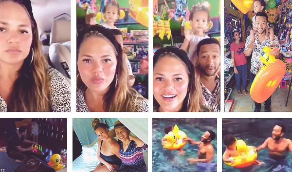 •••  CANDIDS La petite famille été dans un magasin de jouets puis a partagé un instant piscine, le 06 août 2018           Une fois de plus je n'ai que des screencaps mais Chrissy est trop trop chou. J'adore les moments entre Luna et son père dans la piscine !