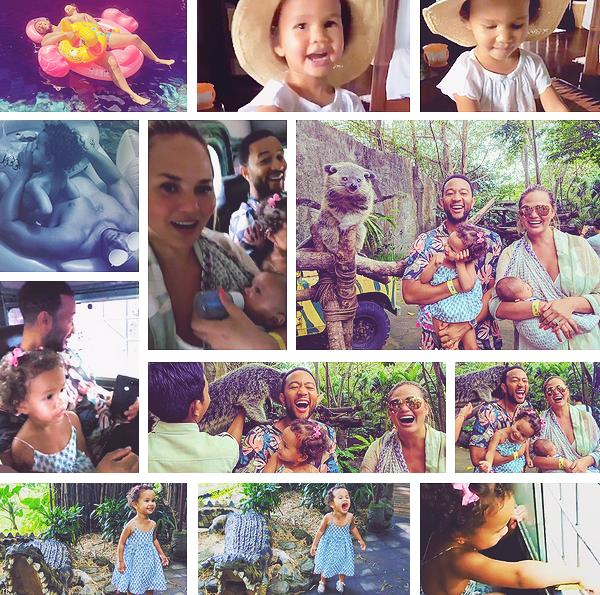 •••  CANDIDS Le couple a posté sur insta des photos de Luna profitant de la piscine de l'hôtel, le 09 août 2018           Le lendemain (10 août) la petite famille a visité un parc animalié toujours à Bali. Luna semble avoir beaucoup aimé comme ses parents !