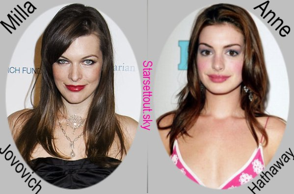 Milla Jovovich VS. Anne Hathaway