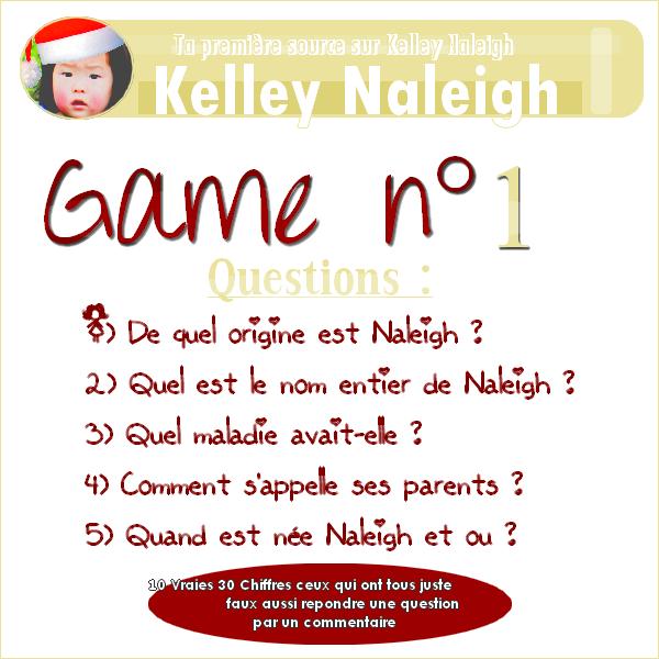 Un jeux pendant l'absence de Naleigh ^^ Le jeux est très facile les réponses sont tous dans mon blog il suffit juste de chercher ;)