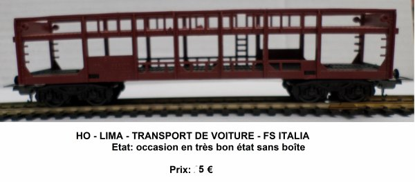 ho lima transport de voiture fs italia trains miniatures ho et autres. Black Bedroom Furniture Sets. Home Design Ideas