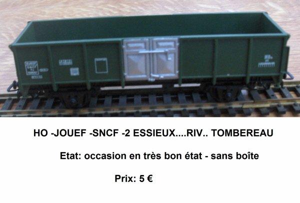HO -JOUEF -SNCF -2 ESSIEUX....RIV.. TOMBEREAU