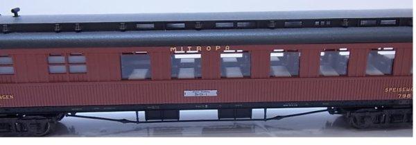 HO fleischmann voiture restaurant MITROPA avec Eclairage intérieur n°5081