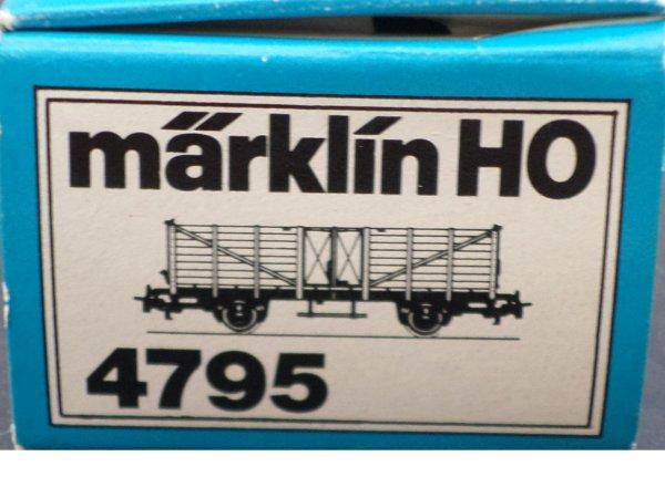 MARKLIN HO TOMBEREAU NEUF EN BOITE N° 4795