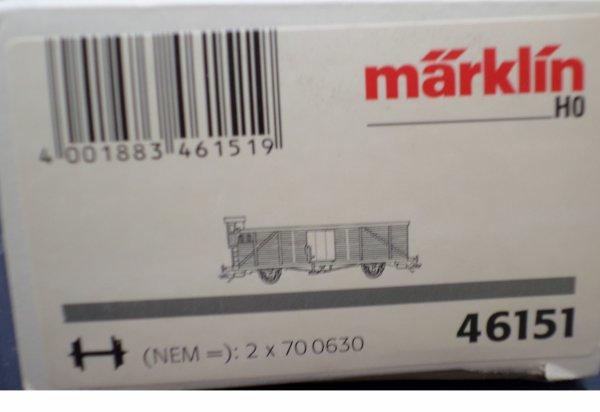 MARKLIN HO FOURGON COUVERT DE MARCHANDISES NEUF EN BOITE N° 46151