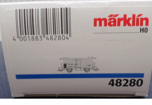MARKLIN HO FOURGON COUVERT TRANSPORT BIERES  NEUF EN BOITE N° 48280