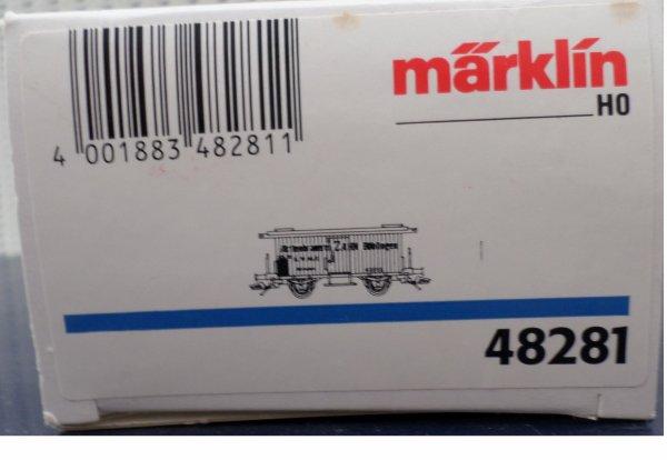 MARKLIN HO FOURGON COUVERT TRANSPORT DE BIERES  NEUF EN BOITE N° 48281