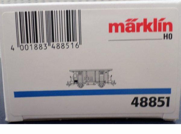 MARKLIN HO FOURGON COUVERT POUR INCENDIES  NEUF EN BOITE N° 48851