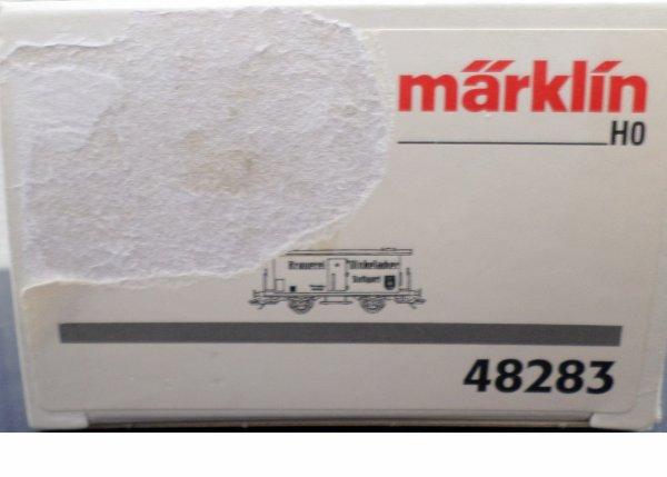 MARKLIN HO FOURGON COUVERT TRANSPORT DE BIERE N° 48283