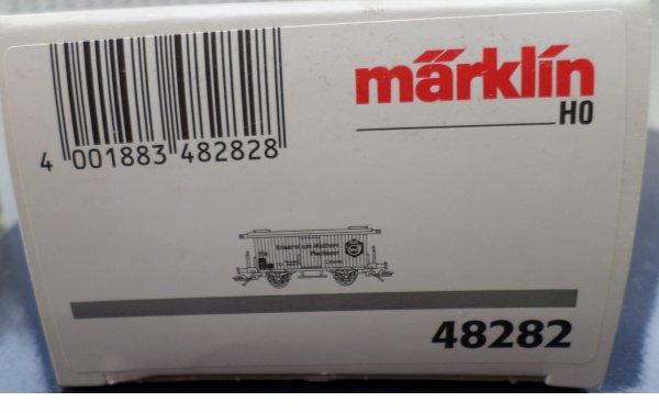 MARKLIN HO FOURGON COUVERT TRANSPORT DE BIERES  NEUF EN BOITE N° 48282