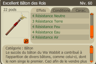 Craft de l'Excellent Bâton des Rois