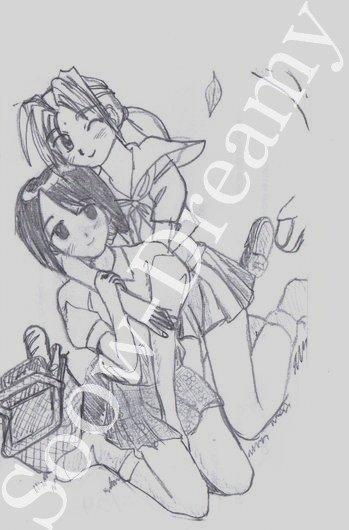 Dessins Love Hina 01 à 08