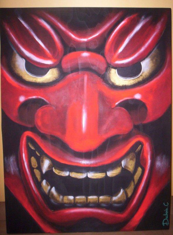 """tableau """"masque japonais"""" vendu"""