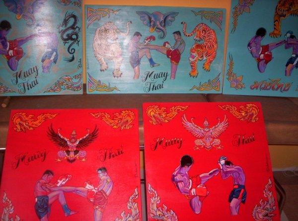 """tableaux boxe thaï """"gala de boxe thaï"""""""