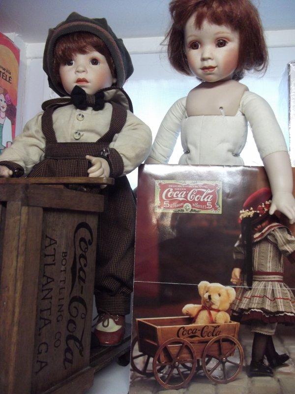 Poupees Coca cola Franklin.
