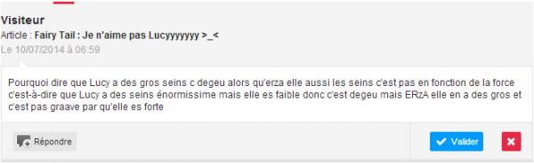 Fairy Tail : Je n'aime pas Lucyyyyyyy >_<