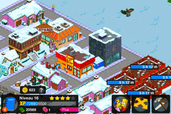 Vue de Springfield aux environ du niveau 16.
