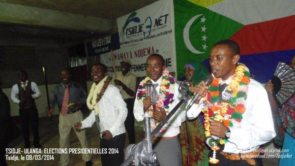 TSIDJE –ULANGA : ELECTIONS PRESIDENTIELLES 2014