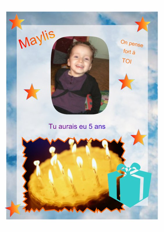 On pense fort a toi petit ange MAYLIS