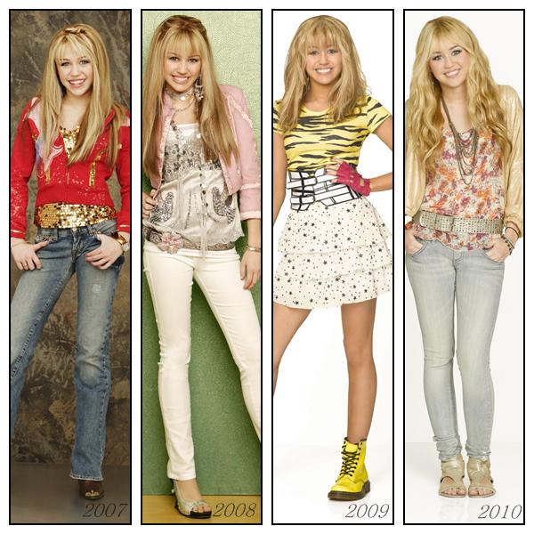 .  Hannah Montana  au fil  des saisons.