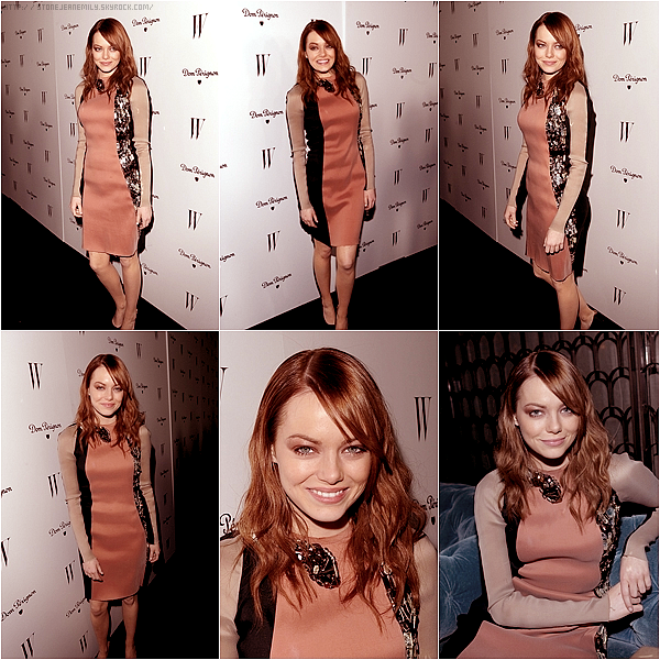 Vendredi 13 Janvier: Emma était à l'after party des Golden Globes organiser par le magazine W.