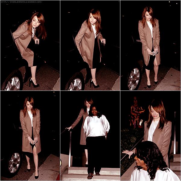 Vendredi 13 Janvier: Emma était à l'after party des Golden Globes organiser par le magazine W.